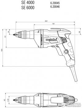 Шуруповерт по гипсокартону Metabo SE 4000 (620045000)