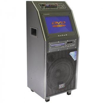 "Акустична система LAV PA-212 Black 300 Вт 12"" Екран 2 мікрофона, пульт"