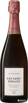 Шампанське Leclerc Briant Brut Rose рожеве сухе органічне 0.75 л 12% (3465020000534)