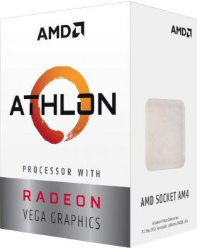 Процесор CPU AMD 2C/4T Athlon 3000G 3,5 GHz/4MB/35W (YD3000C6FHBOX) sAM4 BOX with Radeon Vega 3 Graphics