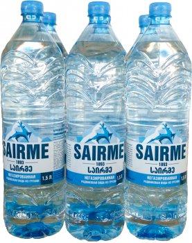 Упаковка родниковой негазированной воды Sairme 1.5 л х 6 бутылок (4860001590186)