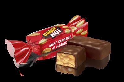 Конфеты глазированные Roshen Candy Nut Карамель с арахисом 1 кг (4823077611032_4823077624001)