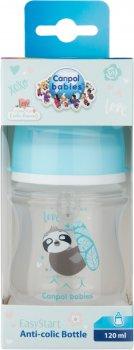 Бутылочка антиколиковая Canpol Babies EasyStart - Toys с широким отверстием 120 мл (35/220_blu)