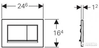 Панель смыва GEBERIT Sigma 30 белый/хром глянцевый/белый 115.883.KJ.1
