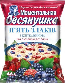 Упаковка каш Вівсянушка 5 злаків з лісовими ягодами 46 г х 20 шт. (4820039841087)