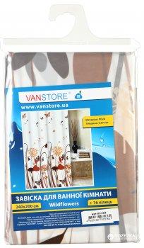 Фіранка для ванної Vanstore Wildflowers 2,40м (комплект)