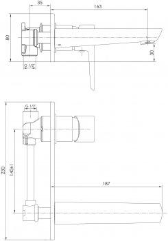 Смеситель для раковины IMPRESE BRECLAV VR-05245W хром/белый, 35 мм