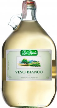 Вино Verga Le Rovole Vino Bianco белое сухое 5 л 10% (8000128010501)