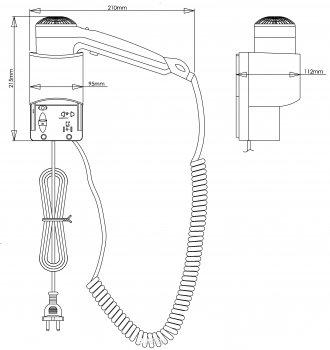 Фен настенный Mediclinics SC0030CS