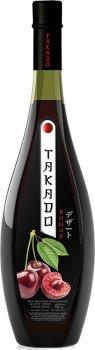 Вино Takado Вишня червоне десертне 0.7 л 11% (4820004924371)