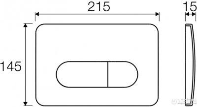 Панель смыва VALSIR P2 Tropea 3 хром матовый VS0872837