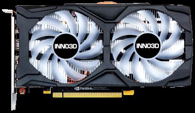 INNO3D PCI-Ex GeForce GTX 1660 Twin X2 OC RGB 6GB GDDR5 (192bit) (1815/8000) (HDMI, 3 x DisplayPort) (N16602-06D5X-1521VA15LB)