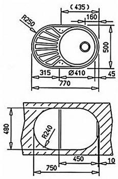 Кухонна мийка TEKA DR 77 1B 1D 40127303 мікротекстура