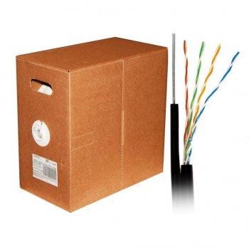 Кабель мережевий Atcom UTP 305м cat.5e Standart CCA, для зовнішньої прокладки з тросом (10700)