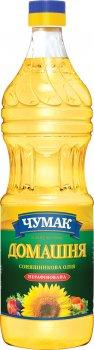 Масло подсолнечное Чумак Домашнее нерафинированное 900 мл (4820078576056)