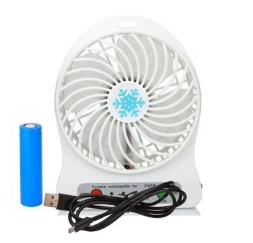 Переносной портативный вентилятор Ручной и Настольный UTM Белый