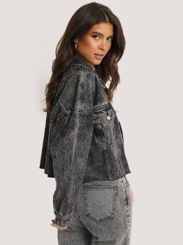 Джинсова куртка NA-KD 1018-005274-0002 Темно-сіра