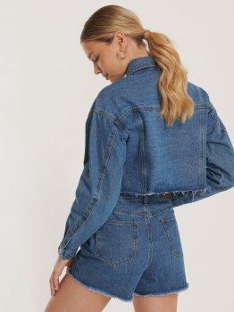 Джинсовая куртка NA-KD 1100-002913-0116 Синяя