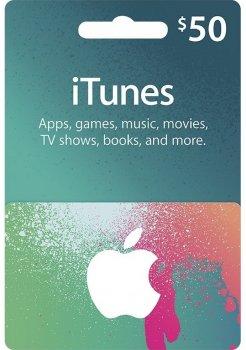 Подарочная карта iTunes Apple / App Store Gift Card 50 usd, US-регион