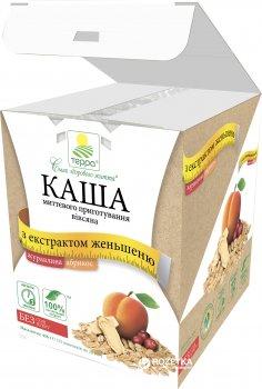 Каша вівсяна Терра миттєвого приготування з журавлиною, абрикосом і екстрактом женьшеню 456 г (шоу-бокс, 12 пакетиків по 38 г) (4820015734600)