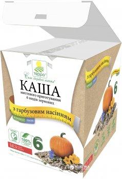 Каша 6 видів зернових Терра миттєвого приготування з льоном, кунжутом і гарбузовим насінням 456 г (шоу-бокс, 12 пакетиків по 38 г) (4820015734624)