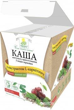 Каша 5 видів зернових Терра миттєвого приготування з вишнею, L-карнітином і екстрактом зеленого чаю 456 г (шоу-бокс, 12 пакетиків по 38 г) (4820015734617)