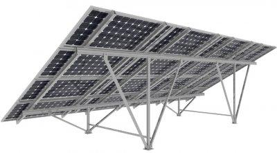 Алюмінієва наземна система кріплень для сонячних панелей TYPE-W