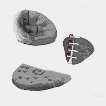 Крісло трансформер безкаркасне Lavibo Обіймашка велюр S Фіолетовий