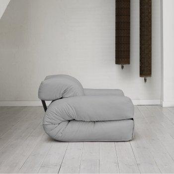Крісло трансформер безкаркасне Lavibo Ультра рогожка S Сірий 200х90х15 см