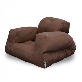 Крісло трансформер безкаркасне Lavibo Ультра велюр L Коричевий 200х90х25 см