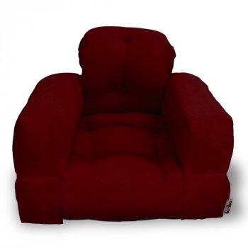Крісло трансформер безкаркасне Lavibo Ультра рогожка М Бордовий 200х90х20 см