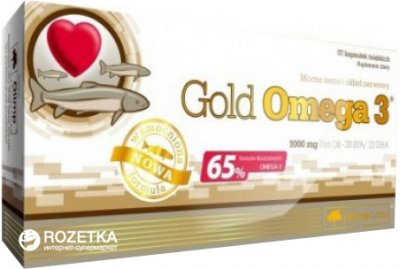 Жирные кислоты Olimp Gold Omega 3 60 капсул (5901330024498)