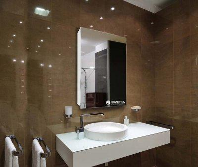 Зеркальный шкаф J-MIRROR Atlant 1 дверца без подсветки (правый) 60x50
