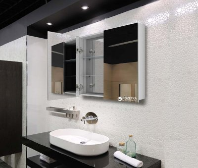 Зеркальный шкаф J-MIRROR Atlant 2 дверцы без подсветки 70x120