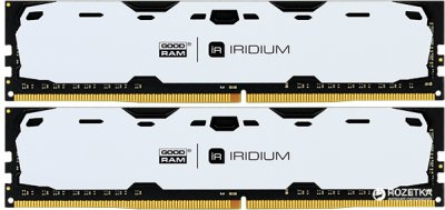 Оперативная память Goodram DDR4-2400 16384MB PC4-19200 (Kit of 2x8192) IRDM White (IR-W2400D464L15S/16GDC)