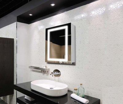 Зеркальный шкаф J-MIRROR Leonardo 1 дверца c LED-подсветкой (левый) 80x60