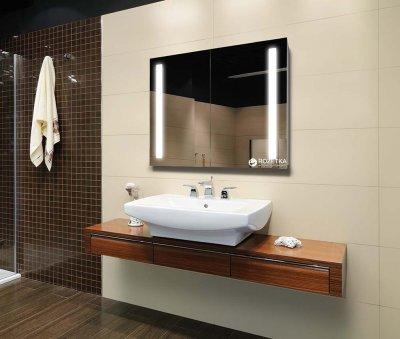 Зеркальный шкаф J-MIRROR Biaggio 2 дверцы c LED-подсветкой 60x70