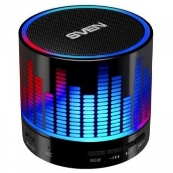 Портативна акустична система з Bluetooth і FM-радіо SVEN PS-47, black (2407)