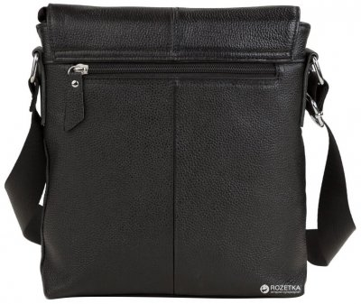Мужской мессенджер кожаный TIDING BAG A25-238A Черный