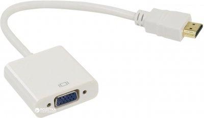 Адаптер STLab HDMI - VGA, 0.15 м с кабелями аудио и питания от USB (U-990 white)