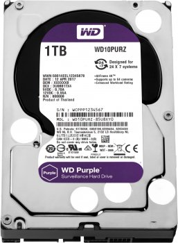 Жорсткий диск Western Digital Purple 1TB 64MB 5400rpm WD10PURZ 3.5 SATA III