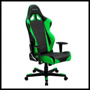 Крісло для геймерів DXRacer Racing OH/RE0/NE Black/Green