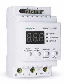 """Терморегулятор HS Electro """"Универсальный"""" ТР32У2 на DIN-рейку с функцией разового нагрева/охлаждения"""