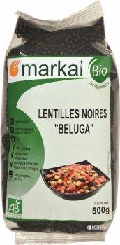 Чечевица черная органическая Белуга Markal 500 г (3329484485002)