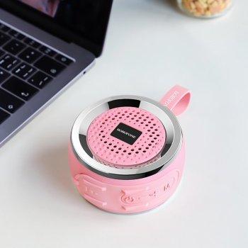 Портативна Bluetooth колонка Borofone BR2 (microSD, USB, FM, HF 2.0) Рожевий 82212pi