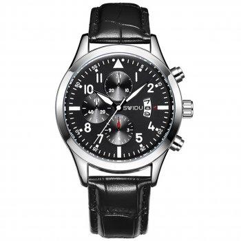 Часы SWIDU SWI-081 с влагозащищенным корпусом в 3 АТМ нержавеющая сталь кварцевый механизм наручные