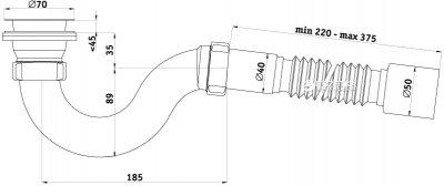 Сифон для душевого поддона ANI PLAST Е115/E116
