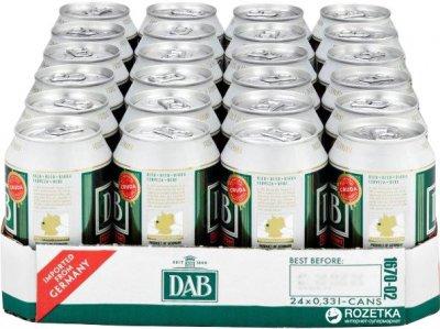 Упаковка пива DAB светлое фильтрованное 5% 0.33 л x 24 шт (4001982163222)
