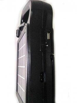 Портативная колонка MP3 плеер PowerBank с фонарем и солнечной батареей GOLON RX-499BT