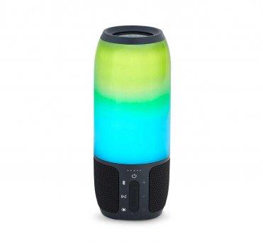 Портативна колонка bluetooth з кольоровою підсвіткою MP3 плеєр Спартак Q690 Pulsation 3 Black